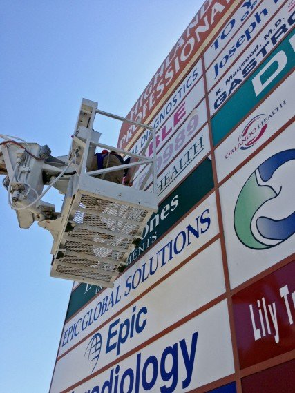 Sign Maintenance, Repair, and Removal